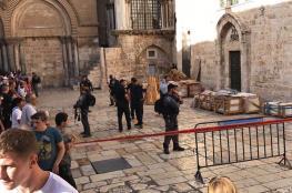 سقوط جزء من سقف كنيسة القيامة