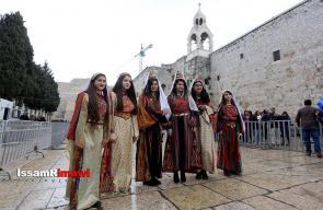صور من إحتفالات أعياد الميلاد في مدينة بيت لحم.