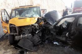 اصابتين احداها خطيرة في حادث سير على طريق واد النار شرق بيت لحم