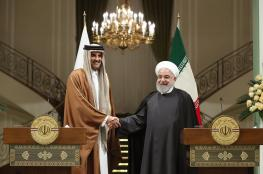 روحاني لأمير قطر : نرصد تحركات الأمريكيين بدقة