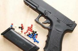 """ضبط """" 18 """" الف مسدس خرز في نابلس"""