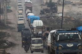 سوريا : اكثر من 4 آلاف نازح من ادلب خلال أيام