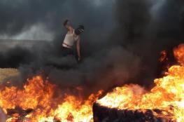 اصابة 240 مواطنا في مواجهات مع الاحتلال خلال مسيرة العودة بغزة