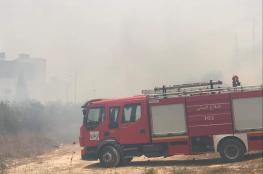 الموجة الحارة تضرب فلسطين  بقوة واتساع دائرة الحرائق