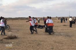 اصابة 20 فلسطينيا بمسيرة العودة في غزة