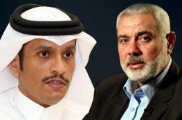 هنية يبحث مع قطر الجهود المبذولة للتهدئة في غزة