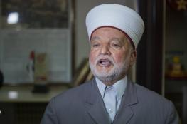 مفتي فلسطين يعلن موعد صلاة عيد الفطر