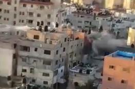 الاحتلال يفجر منزل عائلة أبو حميد في مخيم الأمعري على دفعتين