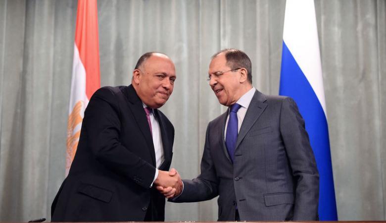مصر وروسيا تبحثان احياء  عملية المفاوضات