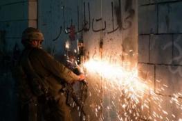 قوات الاحتلال تصادر معدات ورشة حدادة في سلفيت