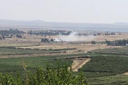 النصرة تحرق معبر القنطيرة بين الجولان والاراضي السورية