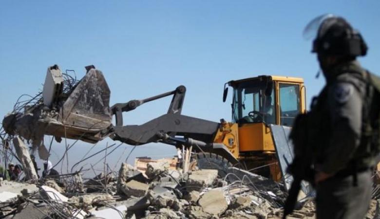 الاحتلال يهدم غرفة زراعية جنوب شرق طوباس