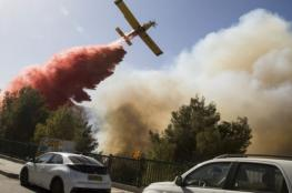 احتراق 2000 دونم .. النيران تواصل الانتشار في جبال القدس