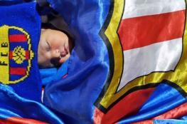 """مولود جديد في الاردن يحمل اسم اللاعب """"ميسي """""""