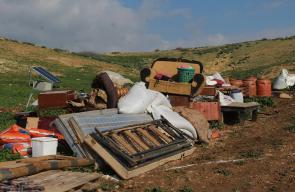 قوات الاحتلال تهدم سبع منشآت وخزانات مياه في الرأس الأحمر جنوب شرق طوباس