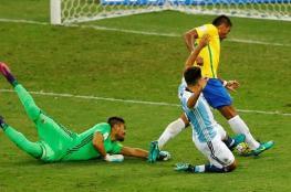 """البرازيل تصفع الأرجنتين بثلاثية وميسي تائه أمام فنون السامبا """"فيديو """""""