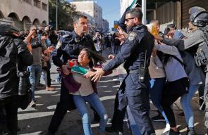 اعتداء الاحتلال على الفتيات بشارع صلاح الدين بالقدس