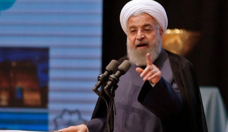 """الرئيس الايراني يهاجم ترامب : """"متخلف عقلياً """""""