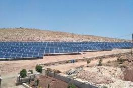 طوباس تحتضن أكبر مشروع فلسطيني  للطاقة الشمسية