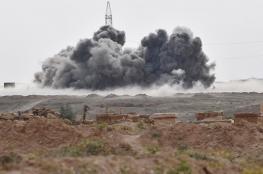 غارات سورية على مواقع داعش في البادية الشرقية