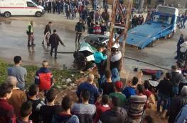 مصرع مواطنين من نابلس واصابة آخرين في حادث سير مروع بسلفيت