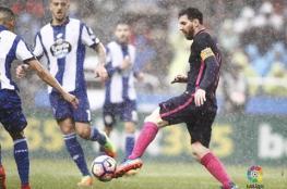 برشلونة يتعرض لضربة قوية ويخسر امام لاكورونيا في الدوري الاسباني