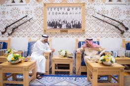 الملك سلمان يعقد اجتماعا مع ولي عهد ابو ظبي في الرياض