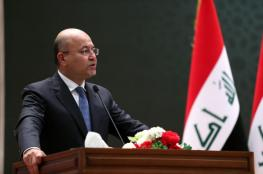 الرئيس العراقي يزور قطر ويدعو الى تعزيز العلاقات العربية