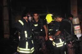 الدفاع المدني ينقذ 5  أطفال حاصرتهم النيران في البيرة