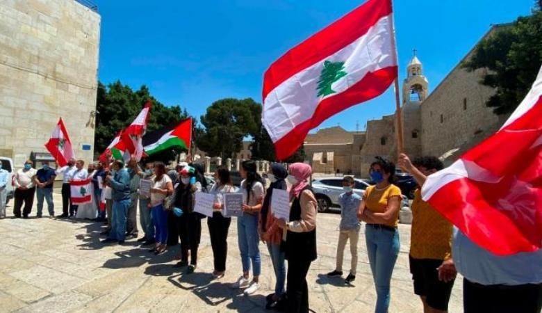 وقفة تضامنية مع لبنان في بيت لحم