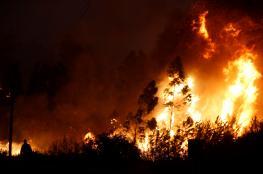حرائق ضخمة تجتاح البرتغال وتهدد اسبانيا