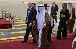 الرئيس الامريكي يصل السعودية في اول زيارة له منذ توليه الرئاسة