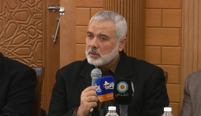 هنية: صراعنا مع الاحتلال حول المسجد الأقصى  والهوية الفلسطينية.