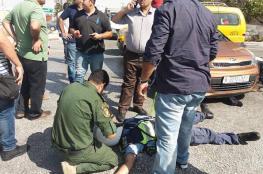 إصابة شرطي بجروح دهسته سيارة عن طريق الخطأ برام الله