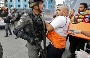 اعتداء الاحتلال على الصحفيين والمسعفين شمال البيرة