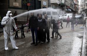 تعقيم شوارع قطاع غزة كإجراء احترازي ضد فيروس كورونا
