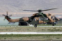 مصرع 13 جندياً تركياً بتحطم مروحية عسكرية
