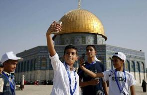 91 طفلا من قطاع غزة في زيارة لأول مرةِِ لمدينة القدس والضفة الغربية