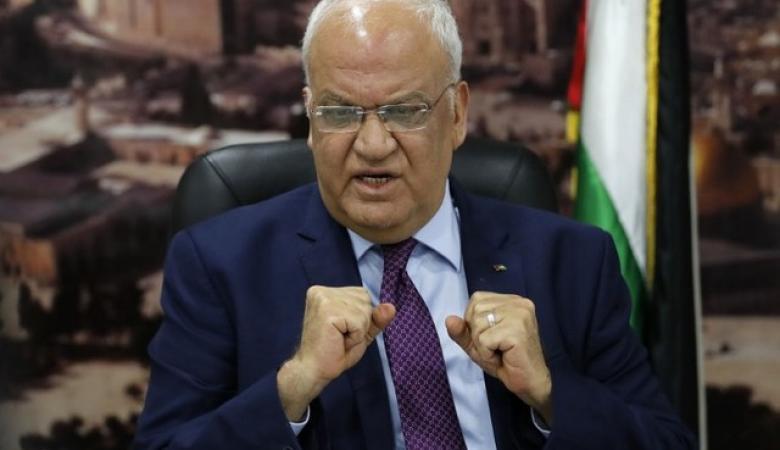 عريقات: الخطة الاسرائيلية تهدف لضم الضفة الغربية كاملة