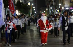 مسيرات كشفية تجوب شوارع رام الله ابتهاجاً بحلول اعياد الميلاد المجيد.