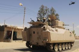 اصابات في استهداف مدرعة مصرية بسيناء
