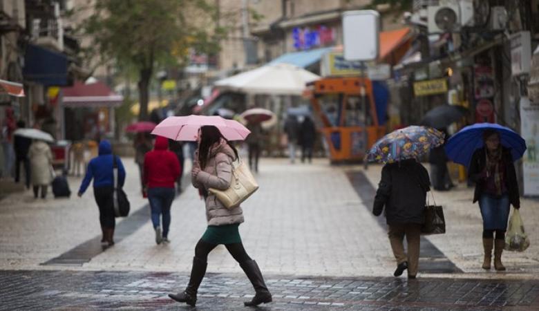 حالة الطقس : منخفض جوي بارد مصحوب بعواصف رعدية