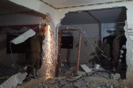 الاحتلال يهدم منزل الأسير قبها في برطعة جنوب جنين
