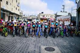 سباق دراجات هوائية في غزة للمطالبة بتوفير حياة كريمة لأطفال فلسطين