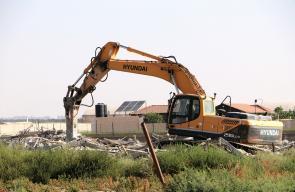 جرافات الاحتلال الاسرائيلي تهدم منزلا في أريحا