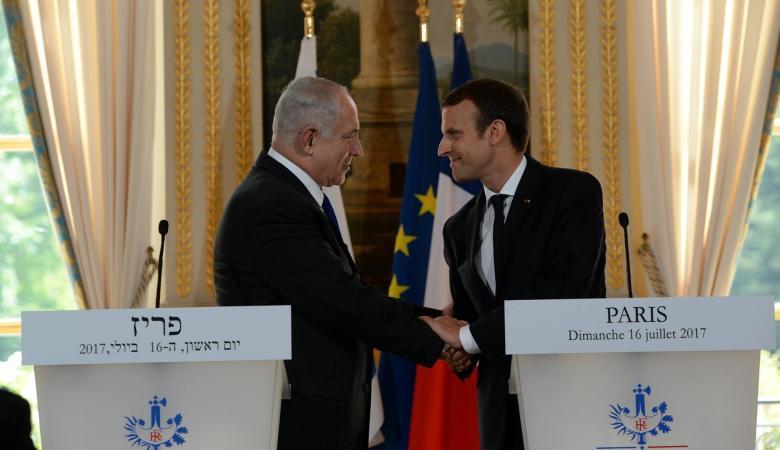 الرئيس الفرنسي لنتنياهو : ندعم حل الدولتين