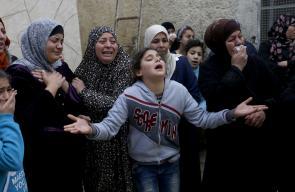 تشييع جثمان الشهيد  محمد الحطاب(17عاماً)