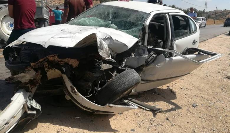 مصرع شخصين واصابة 198 بحوادث سير مروعة خلال الاسبوع الماضي بالضفة