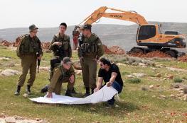 الاحتلال يخطر بالاستيلاء على 500 دونم من اراضي بلدة حزما