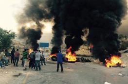 اغلاق الطرق المؤدية الى مدينة رام الله